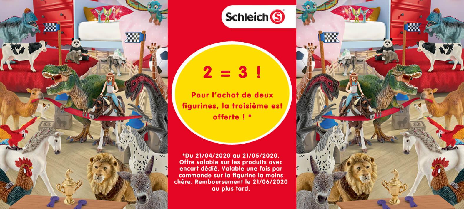 Figurines Schleich : 2 = 3 !