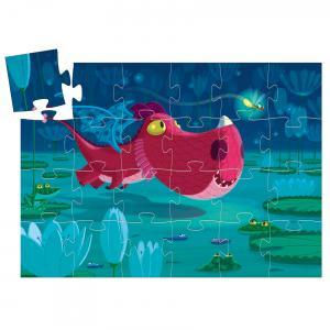 Djeco - DJ07214 - Puzzle silhouettes Edmond le dragon - 24 pièces (102558)