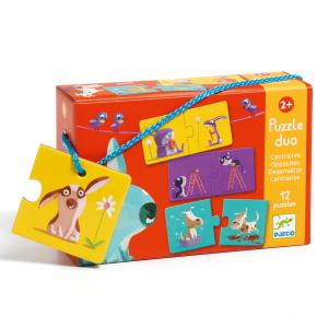 Djeco - DJ08162 - Puzzle duo-trio Puzzle duo Contraires (102566)