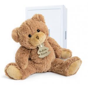 Histoire d'ours - HO1155 - Peluche calin'ours - marron - taille 25 cm - boîte cadeau (103949)