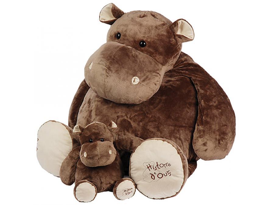 histoire d 39 ours peluche hippo 120 cm. Black Bedroom Furniture Sets. Home Design Ideas
