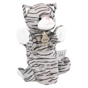 Histoire d'ours - HO1169 - Marionnette chat tigré 25 cm (104180)