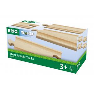 Brio - 33334 - Rails courts droits - 108 mm - Age 3 ans + (1254)