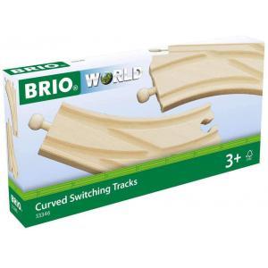 Brio - 33346 - Aiguillages courbes - 144 mm - Age 3 ans + (1260)