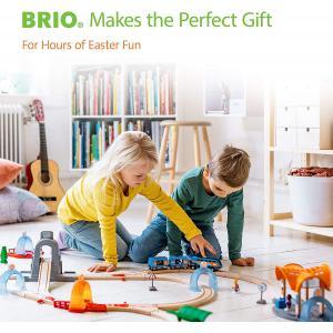 Brio - 33280 - Grue de chargement de marchandises - Thème Transport de marchandises - Age 3 ans + (131327)