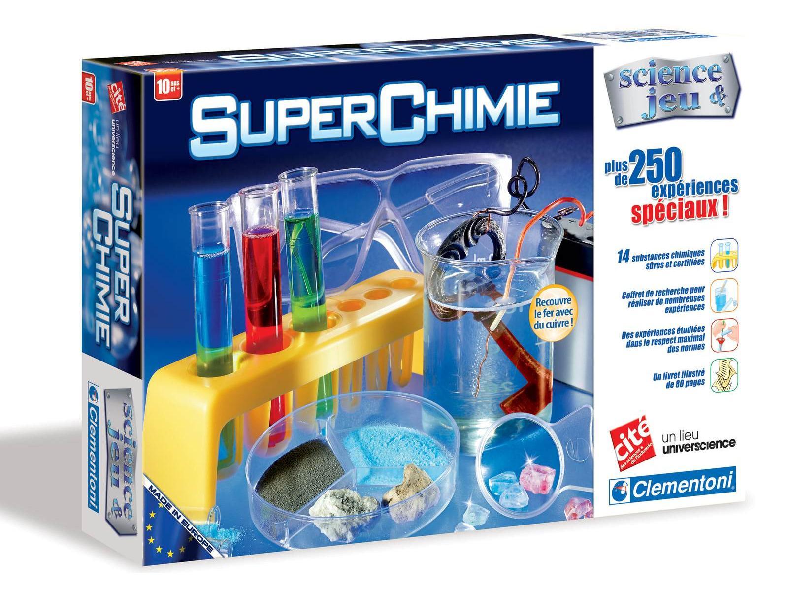 clementoni super chimie jeux scientifiques. Black Bedroom Furniture Sets. Home Design Ideas