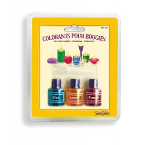 Sentosphere - 703 - Colorants bougie bleu, jaune, rouge (13592)