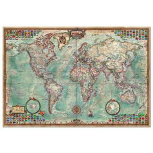 Educa - 14827 - Puzzle 4000 mappemonde (137138)