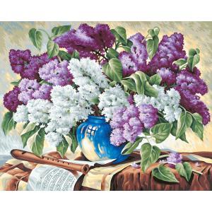 Schipper - 609130324 - Peinture aux numeros - Le bouquet de lilas - Cadre 40/50 (137402)