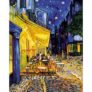 Schipper - 609130359 - Peinture aux numeros - Cafe de nuit - Vincent van Gogh - Cadre 40 x 50 cm (137412)
