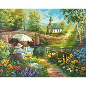 Schipper - 609130506 - Peinture aux numéros - L 'été - Cadre 40/50 (137472)