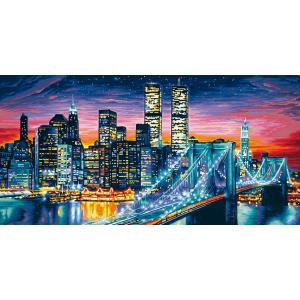Schipper - 609220369 - Peinture aux numeros - Manhattan la nuit - Cadre 40 x 80 cm (137528)