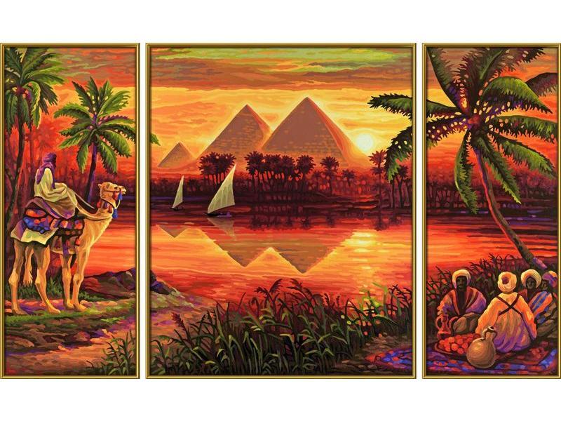Schipper peinture aux numeros pyramides sur le nil for Chambre complete adulte payer en plusieurs fois