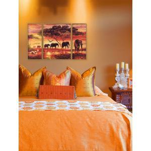 Schipper - 609260455 - Peinture aux numeros - Caravane d'elephants - Cadre 50 x 80 cm (137596)