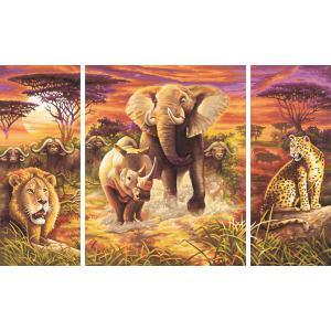 Schipper - 609260520 - Peinture aux numéros - Afrique - les Big Five - Cadre 50/80 (137600)