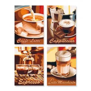 Schipper - 609340553 - Peinture aux numeros - Pause cafe - Cadre 18/24 (137640)