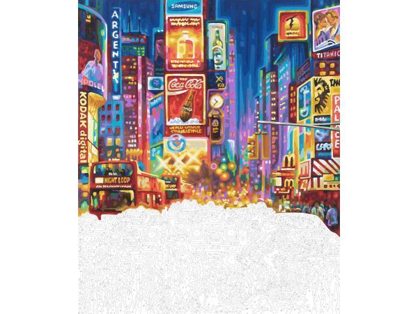 schipper peinture aux numeros new york times square cadre 50 60. Black Bedroom Furniture Sets. Home Design Ideas