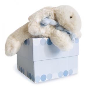 Doudou et compagnie - 1238 - Lapin Bonbon  bleu petit modèle (138004)