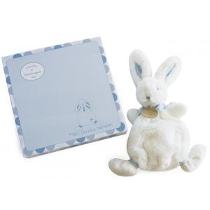 Doudou et compagnie - DC2121 - Lapin bonbon - doudou bleu - 26 cm - boîte cadeau (138236)