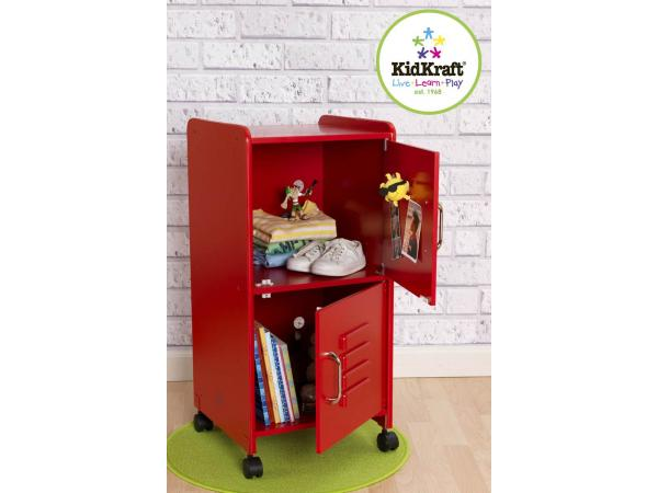 Kidkraft casier taille moyenne rouge for Taille moyenne chambre