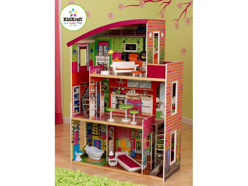 Kidkraft kidkraft maison de poup es de designer 65156 - Maison de poupee kidkraft ...