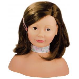 Gotz - 1192053 - Tête à coiffer et à maquiller cheveux châtains, yeux marrons - 58 pièces (139496)