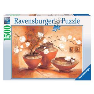 Ravensburger - 16392 - Puzzle 1500 pièces - Magnolia blanc (150861)