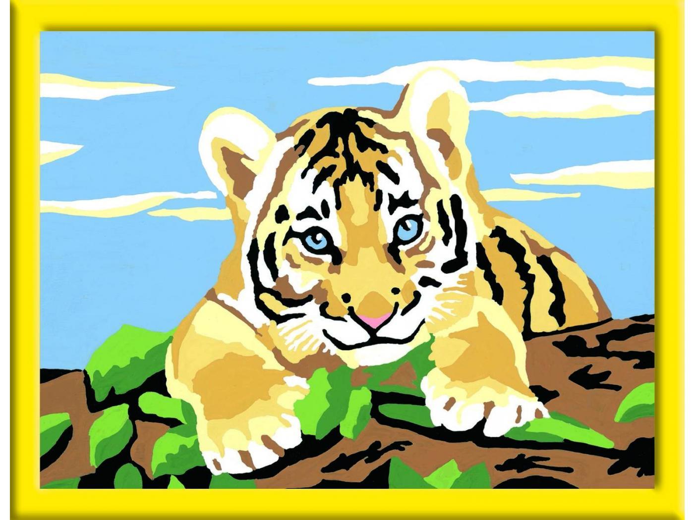 Ravensburger num ro d 39 art petit format b b tigre - Photo d art grand format ...