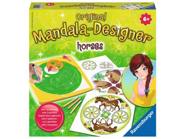 Mandala designer® classique - jeu créatif - horses
