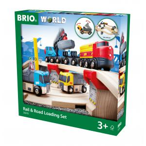 Brio - 33210 - Circuit rail route transport de roches - Thème Transport de marchandises - Age 3 ans + (155277)