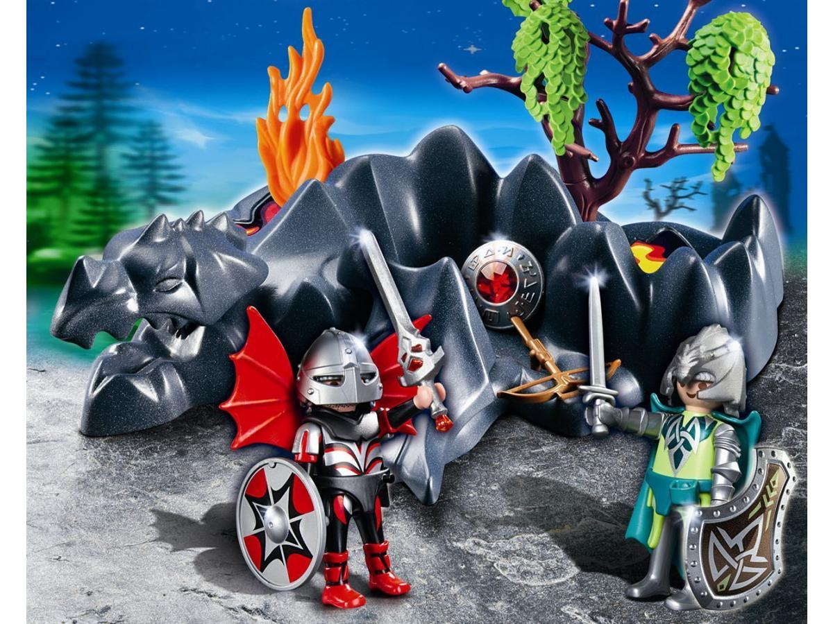 playmobil 4147 compactset chevaliers dragons - Playmobile Chevalier