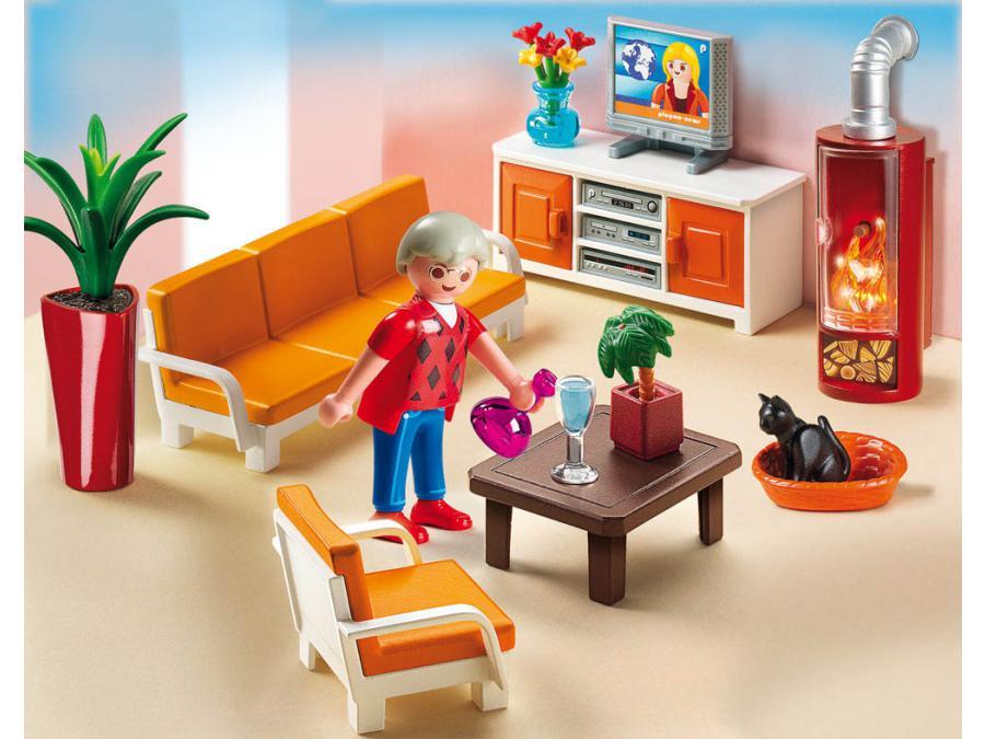 Playmobil - Salon avec cheminu00e9e