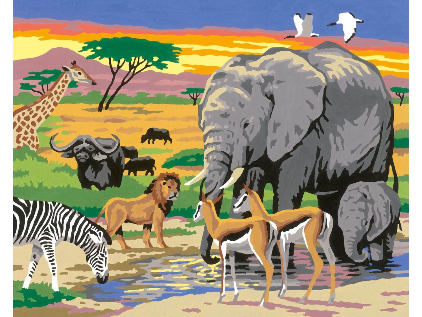 Ravensburger num ro d 39 art grand format animaux d 39 afrique - Photo d art grand format ...