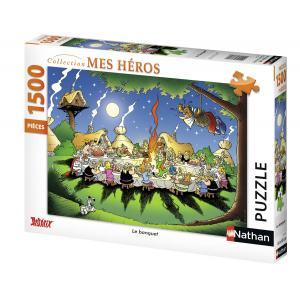 Nathan puzzles - 87737 - Puzzle 1500 pièces - Nathan - Le banquet / Astérix (160389)