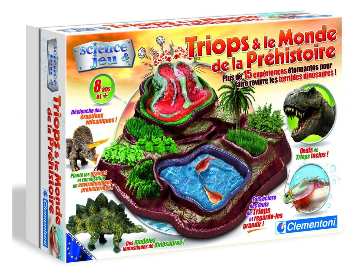 clementoni triops la terre des dinosaures jeux scientifiques. Black Bedroom Furniture Sets. Home Design Ideas