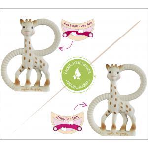 Vulli - 220110 - Duo anneaux de dentition So'pure Sophie la girafe (Version souple + très souple - à base de caoutchouc 100% naturel (165371)