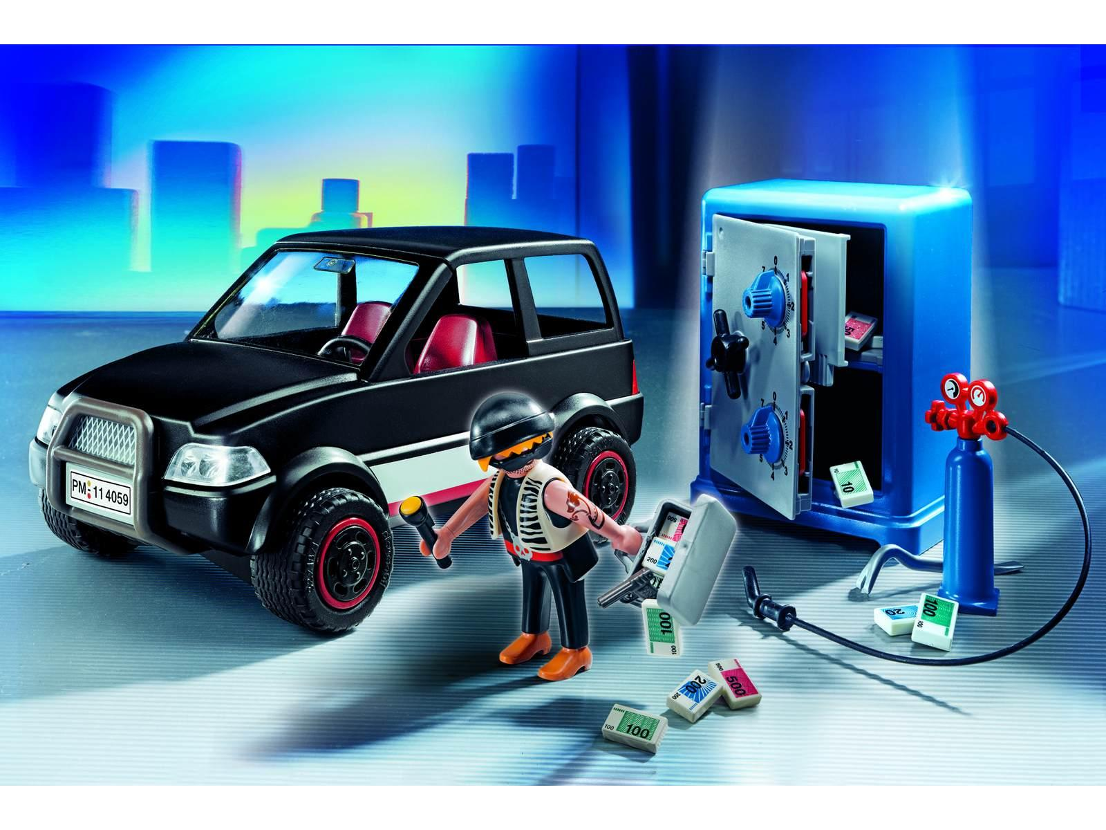 playmobil voiture et cambrioleur de coffre fort. Black Bedroom Furniture Sets. Home Design Ideas