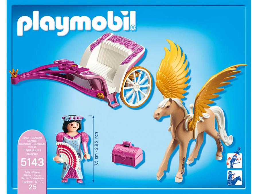 playmobil carrosse avec cheval ail