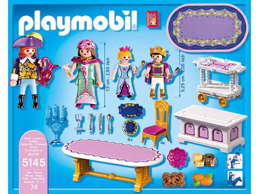 Valise playmobil princesse good cheap chambre playmobil for Salle a manger playmobil city life