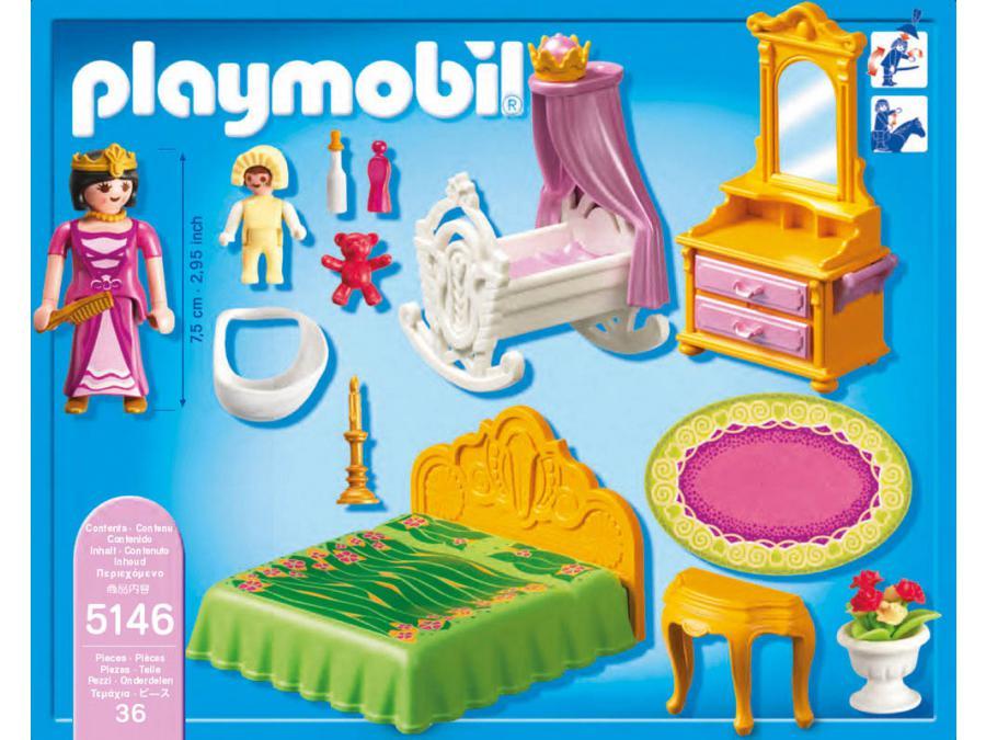 Playmobil chambre de la reine avec berceau - Chambre princesse playmobil ...