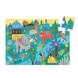 Djeco - DJ07208 - Puzzles silhouettes -  Haathee, éléphant d'Asie - 24 pièces * (1772)