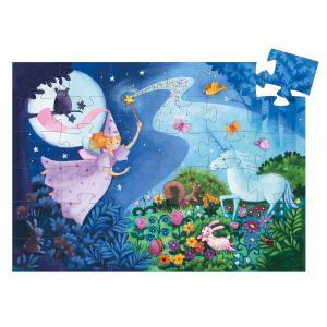 Djeco - DJ07225 - Puzzles silhouettes -  La fée et la licorne - 36 pièces* (1776)