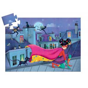 Djeco - DJ07226 - Puzzle silhouettes Super Star - 36 pièces (1777)
