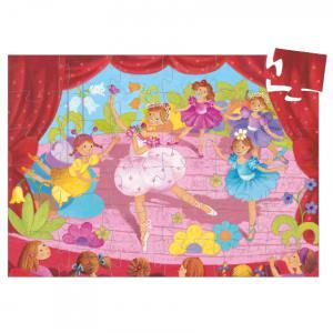 Djeco - DJ07227 - Puzzle silhouettes La ballerine à la fleur - 36 pièces (1778)