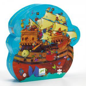 Djeco - DJ07241 - Puzzles silhouettes -  Le bateau de Barberousse - 54pièces* (1780)