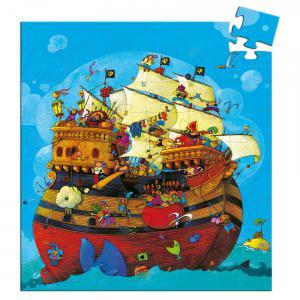 Djeco - DJ07241 - Puzzle silhouettes Le bateau de Barberousse - 54pièces (1780)