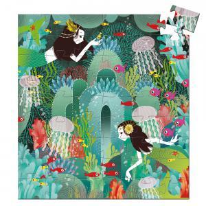 Djeco - DJ07242 - Puzzles silhouettes -  Paradis aquatique - 54 pièces * (1781)