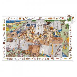 Djeco - DJ07503 - Puzzles observation -  Le château fort - 100 pièces (1796)