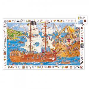 Djeco - DJ07506 - Puzzles observation -  Les pirates - 100 pièces (1798)