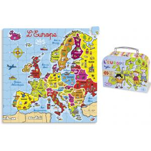 Vilac - 2605 - Puzzle Carte d'europe en valise (144 pcs) (170307)